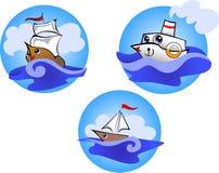 Jolly boats Stock Photo