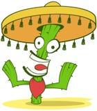 Jolly Cactus In Sombrero Stock Photos
