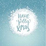Jolly Christmas Greeting Card stock illustrationer
