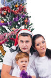 Jolly Christmas portrait Stock Image