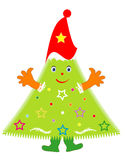 Jolly Christmas Tree Stock Photography