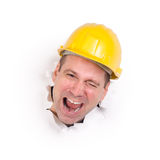 Jolly craftsman Royalty Free Stock Photography