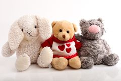 Jolly Crowd Of Plush Toys Royalty Free Stock Image