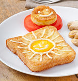Jolly egg sandwich Stock Image