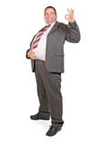 Jolly fat businessman Royalty Free Stock Image