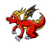 Jolly Fire Dragon. Digital illustration of a fire dragon Royalty Free Stock Photo