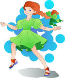 Jolly ginger-haired girl Royalty Free Stock Photos