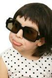 Jolly girl in big black glasses Stock Photo