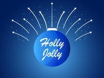 jolly järnek Jul klumpa ihop sig och fyrverkerier, gnistor med stjärnor vektor stock illustrationer
