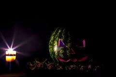 Jolly Jack de la sandía Una broma de Halloween Foto de archivo libre de regalías