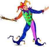 Jolly Joker in einem hellen Kleid Stockbilder