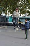 Jolly-jumping Royalty Free Stock Photos