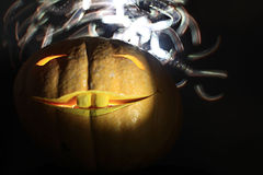 Jolly kind pumpkin for Halloween. SCARY Royalty Free Stock Photography