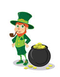 Jolly Leprechaun Stock Photo
