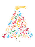 Jolly merry christmas tree Royalty Free Stock Photos
