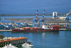 Jolly Nero ship under sequestration in Genoa harbo Stock Photography