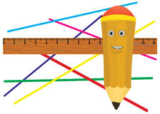 Jolly pencil. Royalty Free Stock Image
