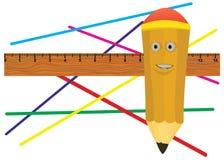 Jolly pencil. Royalty Free Stock Image