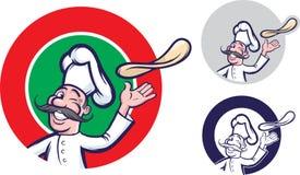 Jolly pizzakock stock illustrationer