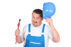 Jolly plumber Royalty Free Stock Photography