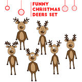 The Jolly reindeer show emotions stock photo