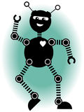 Jolly robot dancing Royalty Free Stock Photography