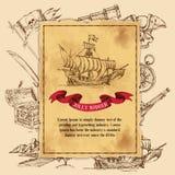 Jolly Rodger Pirate Background illustration de vecteur