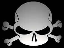 Jolly roger. Modern version of pirate flag vector illustration
