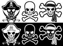 Jolly Roger. Pirate attributes, Skull and Crossbones silhouette Royalty Free Illustration
