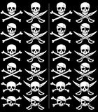 Jolly Roger. In 24 different versions. Those on the right are with grunge effect. No transparency and gradients used vector illustration
