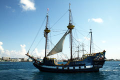 Jolly roger. The touristic pirate ship jolly roger at grand cayman royalty free stock photos