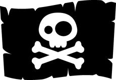 Jolly roger. Cartoon style jolly roger. Pirate flag vector illustration