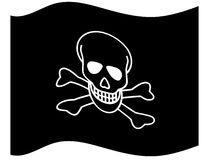 Jolly Roger. Flag Jolly Roger on white background Stock Photography