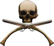Jolly Roger avec des pistolets illustration libre de droits