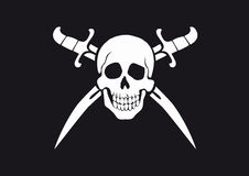 Jolly Roger Black Royalty Free Stock Images