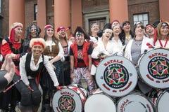 Jolly Roger che sorvola festival del pirata di Liverpool Liverpool Fotografia Stock