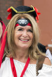 Jolly Roger che sorvola festival del pirata di Liverpool Liverpool Fotografie Stock