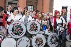 Jolly Roger che sorvola festival del pirata di Liverpool Liverpool Fotografia Stock Libera da Diritti