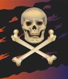 Jolly Roger. Cranio e tibie incrociate. Fotografia Stock