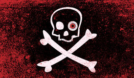 Jolly Roger With Eyeballs Stock Image