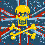 Jolly Roger Flag Background Foto de archivo libre de regalías