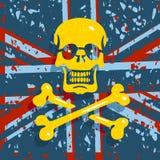 Jolly Roger Flag Background Photo libre de droits
