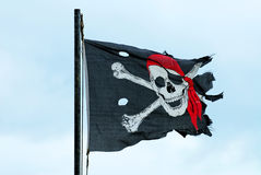 Jolly Roger Flag Stock Photo