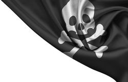 Jolly roger flag isolated Stock Photos