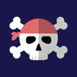 Jolly roger flat icon isolated vector. Royalty Free Stock Photos