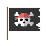Jolly roger flat icon isolated vector. Stock Photos