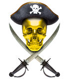 Jolly Roger gold Royalty Free Stock Images