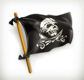 Jolly Roger icon. Illustration on white background royalty free illustration