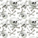 Jolly Roger nahtlos Lizenzfreie Stockbilder