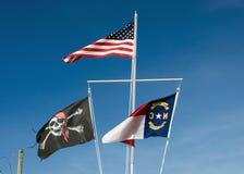 Jolly Roger in Noord-Carolina Royalty-vrije Stock Foto's